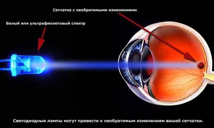 Вред светодиодов для глаз