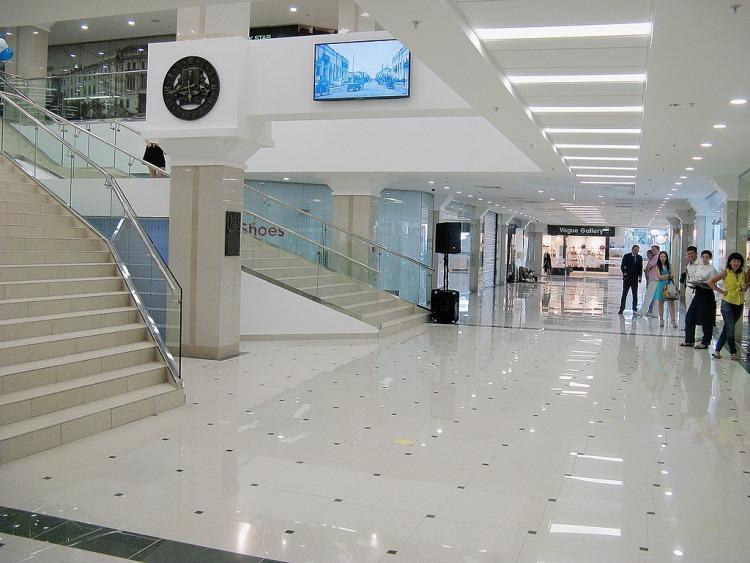 освещение торгового центра