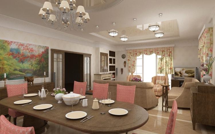 кухня гостиная освещение фото
