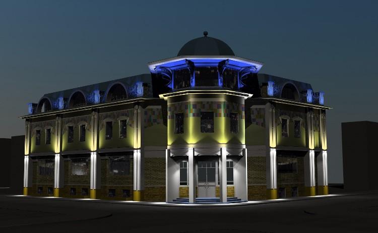 светодиодный прожектор для архитектурной подсветки
