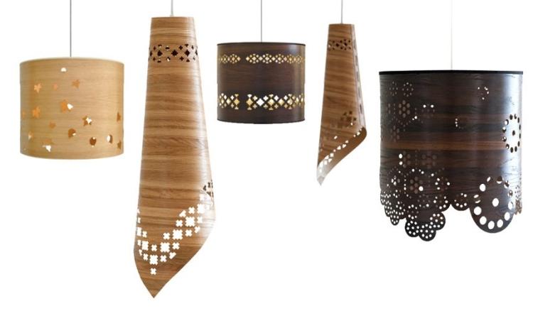 потолочные деревянные светильники