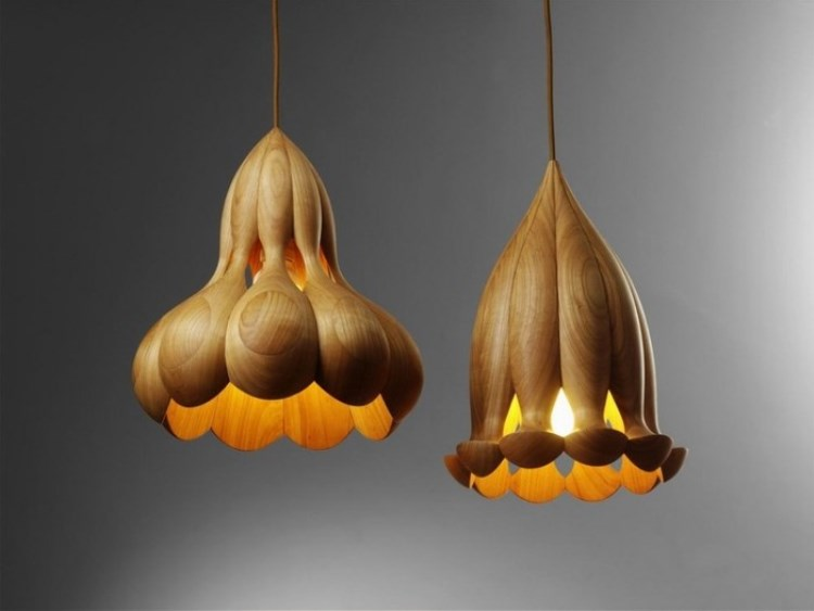 деревянные люстры светильники